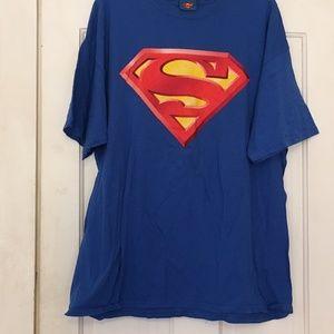 Superman  Blue T Shirt - Size  XL